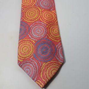 Tie is by PAUL STUART 70% linen 30% silk